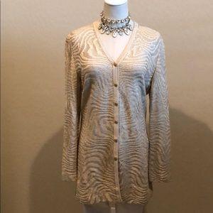 St John Marie Gray Evening Sequin Knit Jacket